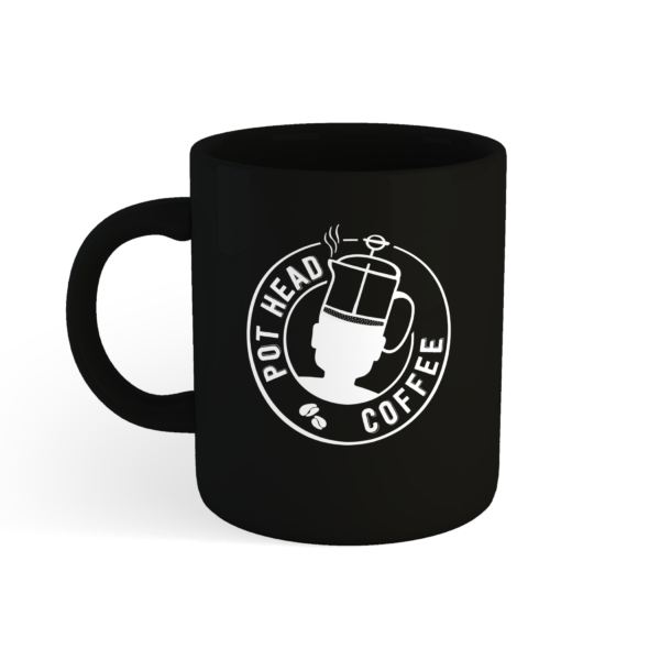 Black Pot Head Coffee Mug